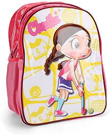 Chhota Bheem School Bag Dark Pink - 16 Inches