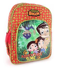 Chhota Bheem School Backpack Red - 18 inches