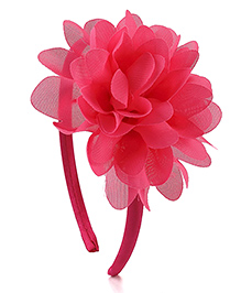 Pikaboo Hair Band Floral Applique - Pink - 858828