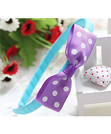 Pikaboo Hair Band Bow Applique - Light Purple