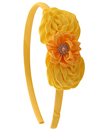 Pikaboo Hair Band Floral Applique - Yellow