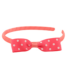 Pikaboo Hair Band Bow Applique - Light Pink