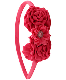 Pikaboo Hair Band Floral Applique - Pink