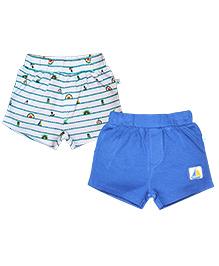 FS Mini Klub Shorts Pack of 2 Boat Print - White and Blue