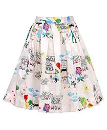 Mignon Flared Printed Skirt - Multicolored