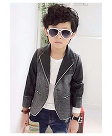 Lil Mantra Solid Summer Party Jacket - Grey