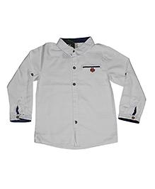 Piperz Full Sleeves Shirt - White