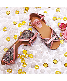 D'chica Glam Party Wear Sandals - Pink