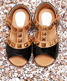 D'chica Straight From The Runway Partywear Sandals - Black & Beige