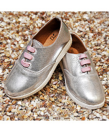 D'chica Stylish Sporty Chic Shoes - Silver