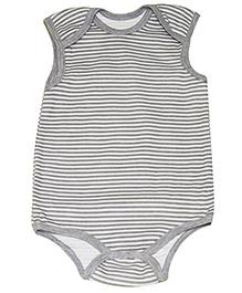 Kiwi Striped Sleeveless Onesies - Grey