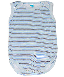 Kiwi Striped Sleeveless Onesies - Blue
