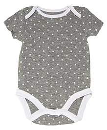 Kiwi Short Sleeves Onesies Star Print - Grey