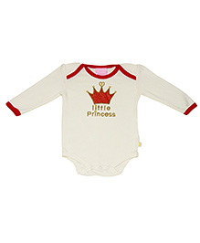 Kiwi Short Sleeves Onesies Little Princess - Cream