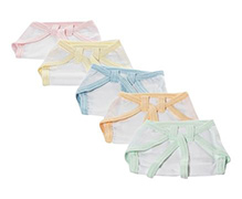 Tinycare Baby Nappy Multicolor Size 0 - Set of 5