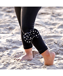 D'chica Pretty Bow On The Side Leggings - Black