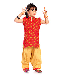 Little Pockets Store  Print Suit - Red