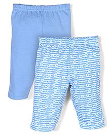 Babyhug Full Length Multi Print Leggings - Blue