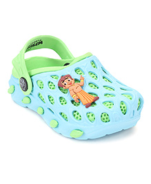Chhota Bheem Clogs With Back Strap - Sky Blue & Green