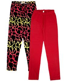 Raine And Jaine Pack Of 2 Leggings - Multicolour