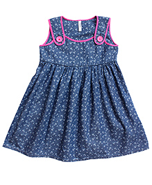 campana sleeveless printed high low dress navy blue best deals with price c. Black Bedroom Furniture Sets. Home Design Ideas
