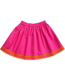 Campana Lace Trimmed Skirt - Fuschia