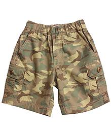 Campana Camo Print Cargo Shorts- Multicolor
