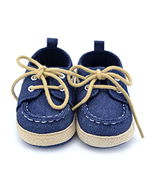Wow Kiddos Soft Sole Lace Sneakers - Blue