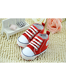 Wow Kiddos First Walker Sneakers - Red
