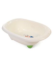 Printed Baby Bath Tub - Cream Green