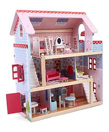 Kidkraft Chelsea Dollhouse 17 Pieces - Pink Blue