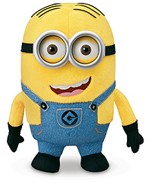 Kuhu Creation 3 D Resin Eyes Hair Minion Big Stuffed Toy Yellow - 28 Cm