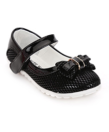 Cute Walk by Babyhug Mary Jane Shoes Bow Applique - Black