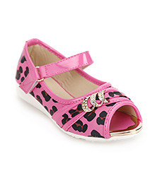 Cute Walk by Babyhug Peep Toe Shoes - Rose Pink