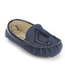 Cute Walk by Babyhug Loafer Shoes Song Note Design - Blue