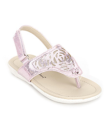 Cute Walk by Babyhug Sandals With Back Strap - Pink