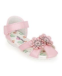 Cute by Babyhug Sandals Flower Motif - Pink