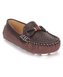 Cute Walk by Babyhug Party Loafer Shoes - Brown