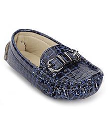 Cute Walk by Babyhug Loafer Shoes Buckle Design - Blue