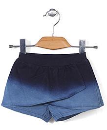 Miss Pretty Dual Shade Skirt - Blue