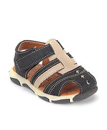Cute Walk by Babyhug Floater Sandals - Cream Black