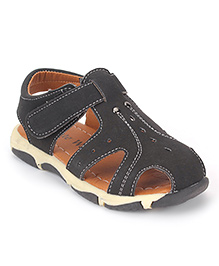 Cute Walk by Babyhug Floater Sandals - Black
