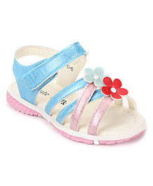 Cute Walk by Babyhug Sandals Floral Applique - Light Blue