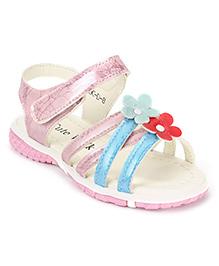Cute Walk by Babyhug Sandals Floral Applique - Light Pink