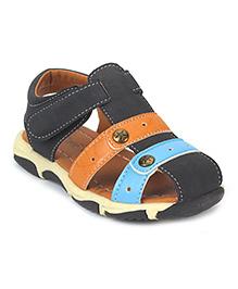 Cute Walk by Babyhug Floater Sandals - Navy Orange Blue