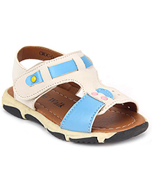 Cute Walk by Babyhug Sandals - Off White And Blue