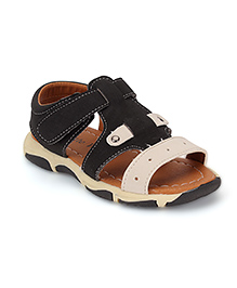 Cute Walk by Babyhug Sandals - Black And off White