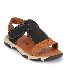 Cute Walk by Babyhug Sandals - Black And Brown