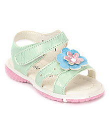 Cute Walk by Babyhug Sandals Flower Motif - Green