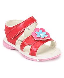 Cute Walk by Babyhug Sandals Flower Motif - Red